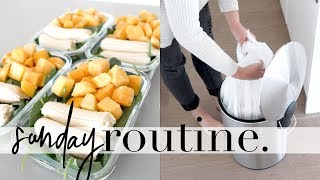 Healthy Sunday Routine | Meal Prep & Cleaning