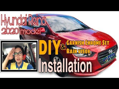 DIY Garnish Chrome Set & Rain Visor Installation   Hyundai Reina 2020 Model