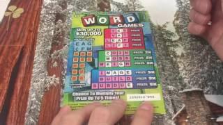 WOAH NICE SCRATCHER WINS!!! Word Games California Lottery Scratchers   charlott sklar