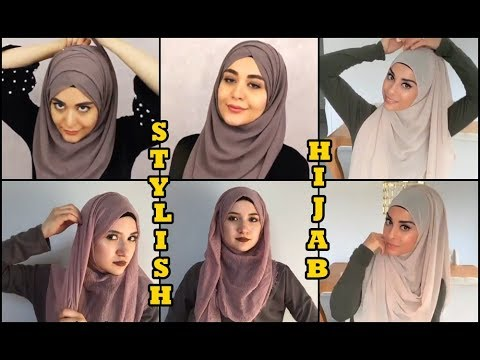 Arabic style hijab tutorial wear for university student for