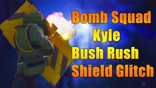 Fortnite - Bomb Squad Kyle Bull Rush Shield Glitch Gameplay | Powerful Juggernog Armor!