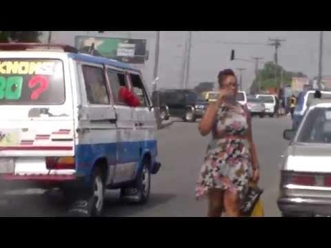 Busy Street in Port Harcourt, Nigeria