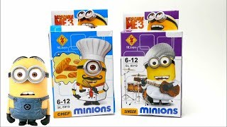 Minion Lego Set - Chef and Singer