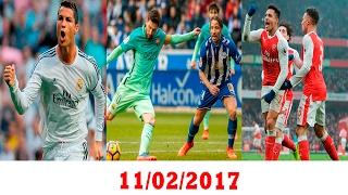 سداسية برشلونة على الافيس - كريستيانو افضل لاعب اجنبي في تاريخ البريمير - فوز ارسنال و اليونايتد