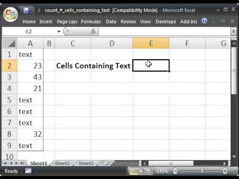 how to count letters in excel count cells that only contain text in microsoft excel 22266 | hqdefault