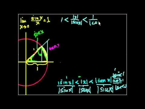 Доказательство lim (sin x) x = 1