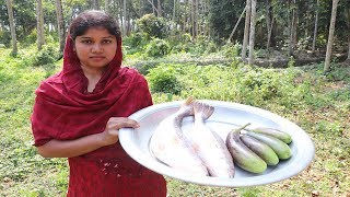 Fish Curry With Eggplant Tasty and Easy Recipe | Delicious Bengali Fish Curry & Eggplant So Yummy 😋