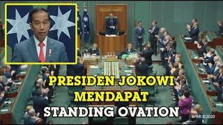 Presiden Jokowi Dapat Tepuk Tangan Dari Seluruh Peserta Saat Sampaikan Pidato di Parlemen Australia