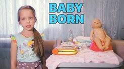 Lady Eveline | КОРМИМ И КУПАЕМ КУКЛУ БЕБИ БОН. ОДЕВАЕМ И УЧИМ ПИСАТЬ Baby Born. Кукла для девочек
