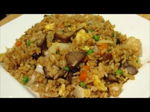 How To Make Pork Fried Rice Chinese Fried Rice Recipe Youtube