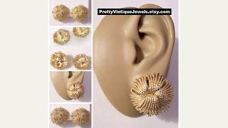Monet Vintage Earrings Set 2