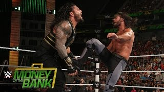 roman reigns vs seth rollins wwe world heavyweight title match wwe money in the bank 2016