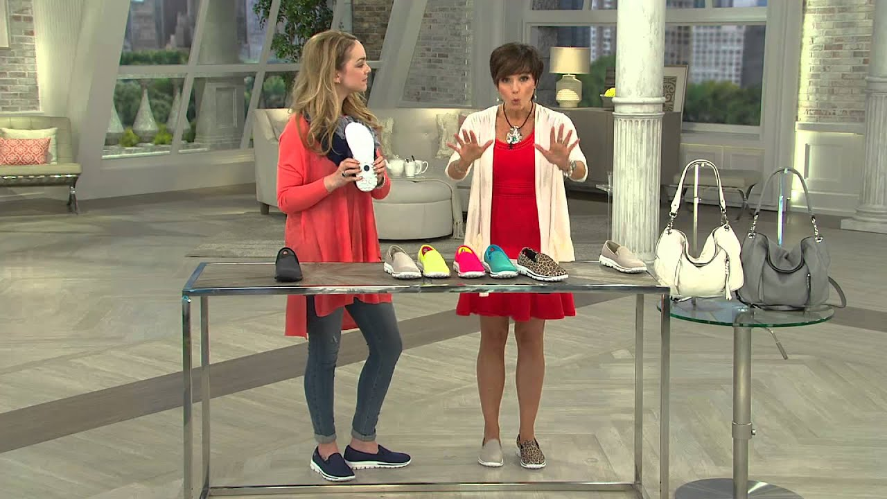 Nancy Slip Skechers Hornback Dazzle Mesh Gowalk On Sneakers With wx06x