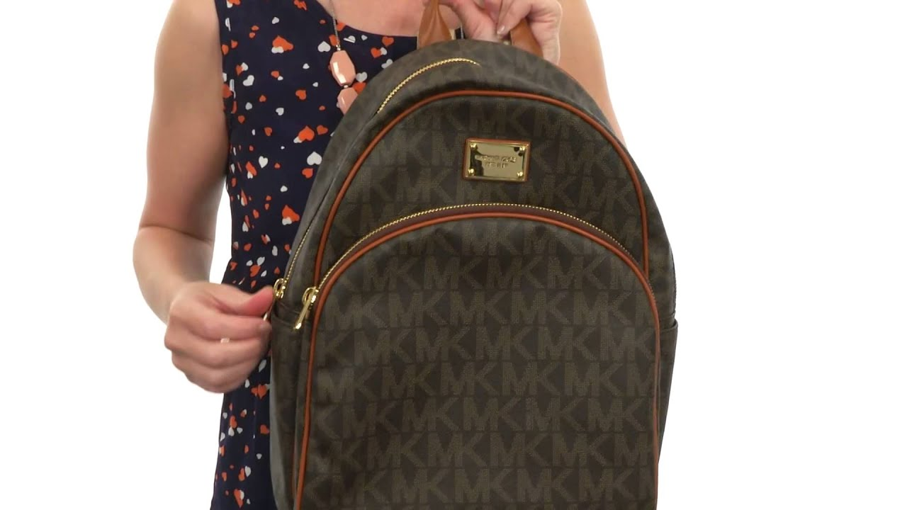 0c487e6e1cab MICHAEL Michael Kors Jet Set Item Large Back Pack SKU:#8382249 - YouTube