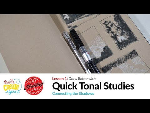 Quick Tonal Landscape Studies for Beginners to Improve your Compositions, Drawings and Paintings