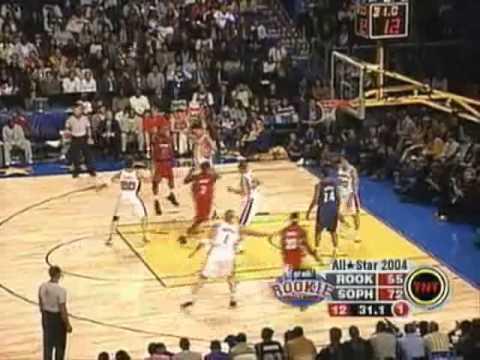 Nba all star games Rookie vs  2004 slam dunk mix