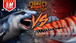 Dinosaurs Monster Megalodon  VS Mosasaurus