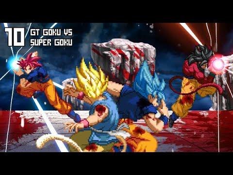 What If Movie Super Goku Vs Gt Goku Dbs Manga Vs Dbgt Super Saiyan Blue Vs Super Saiyan 4