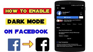 How to Enable Dark Mode on Facebook Android - Facebook Dark