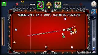 How to Win 8 Ball Pool- By Chance