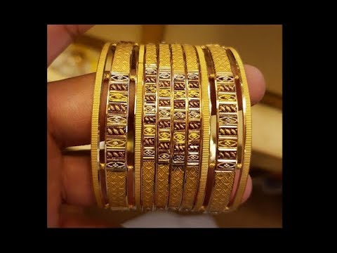 Designer Gold Bangles with Weight & Price 2018| Latest Jewellery Designs