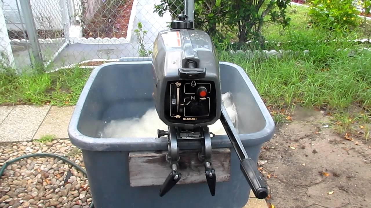 Suzuki 2hp outboard motor 2 stroke shortshaft in hd youtube for Suzuki outboard motor repair shops