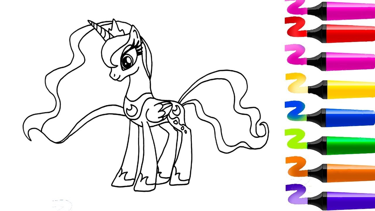 Coloriage magique my little pony princess luna coloriage - My little pony a colorier ...