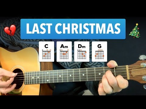 🎸 Last Christmas • Guitar lesson w/ easy chords & tabs