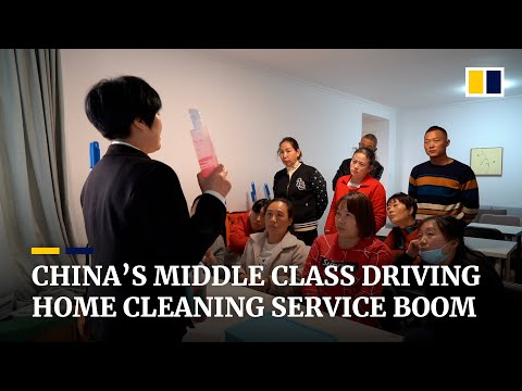 Demand for professional home cleaning services growing rapidly among China's middle class