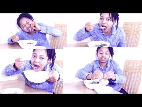 Mukbang | Nigerian Food | Delicious Goat Meat Pepper Soup & Plantain Fufu