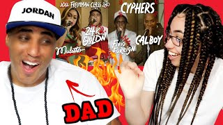 MY DAD REACTS TO Fivio Foreign, Calboy, 24kGoldn and Mulatto's 2020 XXL Freshman Cypher REACTION