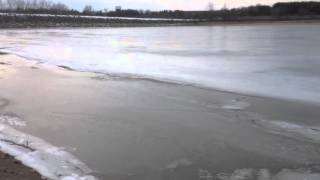 Lake Pittock ice conditions before the rain and warm weather - Tuesday February 2nd 2016
