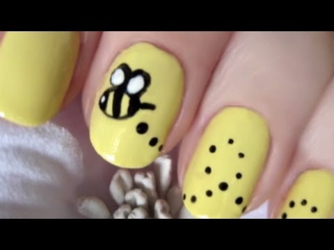 Beautiful bumble bee nails youtube beautiful bumble bee nails prinsesfo Choice Image