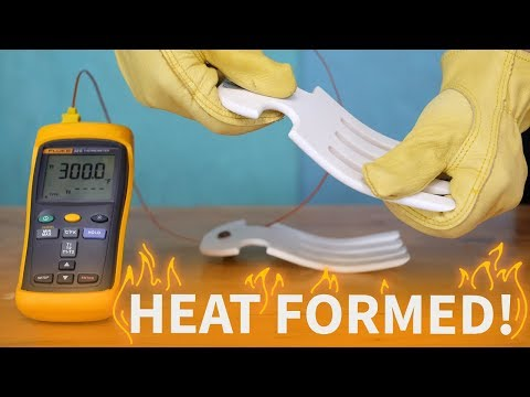 THERMOFORMING 300° CORIAN (how to make salad servers)