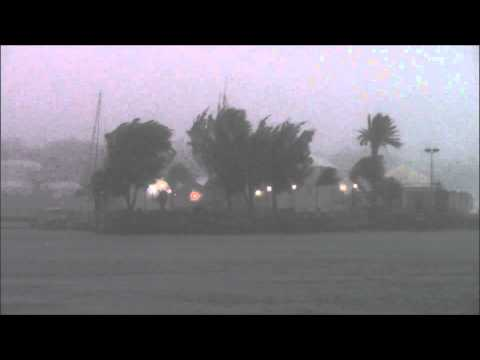 Tropical Storm Fay Hitting Bermuda October 12 2014