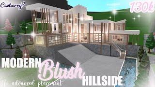 Bloxburg | Blush Modern Hillside Mansion 130k | No advanced placement