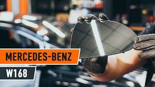 Installation Spiegelglas selbst Videoanleitung auf MERCEDES-BENZ A-CLASS