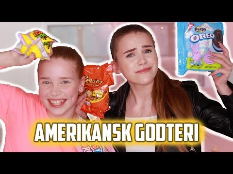 Tester amerikansk godteri med søstera mi! 'Hvor er søppelbøtta?!' | Mina Jacobsen