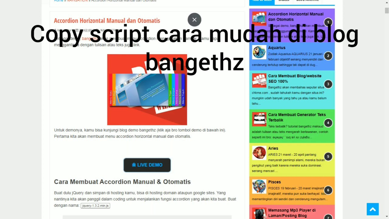 Copy Paste Script Cara Mudah - YouTube