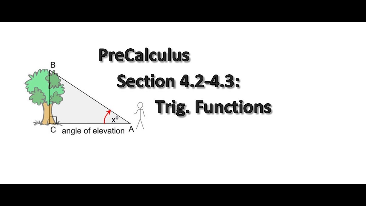 PreCalculus Section 4.2-4.3: Trigonometric Functions cont