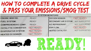 How To Complete A Drive Cycle & Pass Emissions & Smog Test (Life Hack)