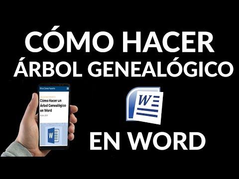 Cómo Hacer un Árbol Genealógico en Word