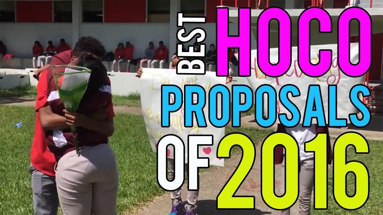 The Best Homecoming Proposals Of 2016 YouTube