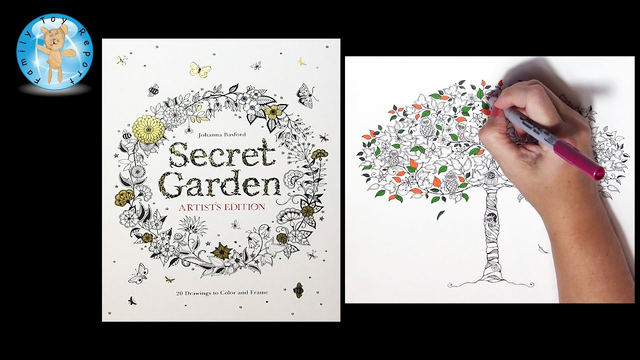 Secret Garden Artists Edition By Johanna Basford Adult Coloring Book Tree