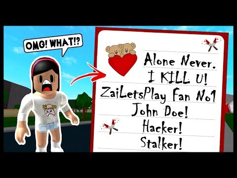 MY CREEPY STALKER SENT ME A SCARY LETTER! - Roblox