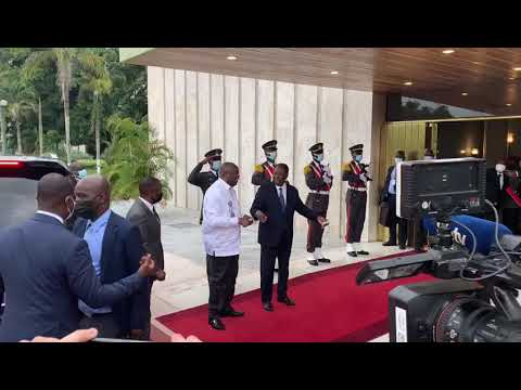 Ouattara-Gbagbo : Les images de la rencontre