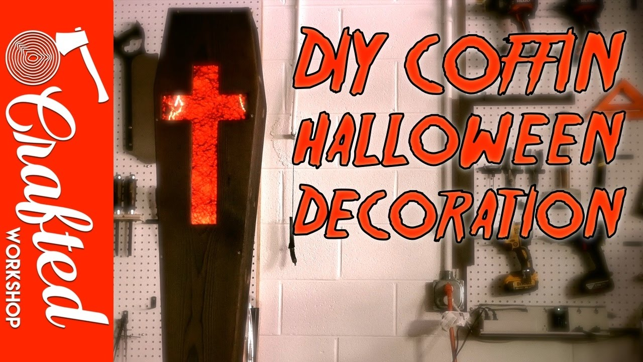 How To Build A Coffin Halloween Decoration With Shou Sugi Ban Youtube