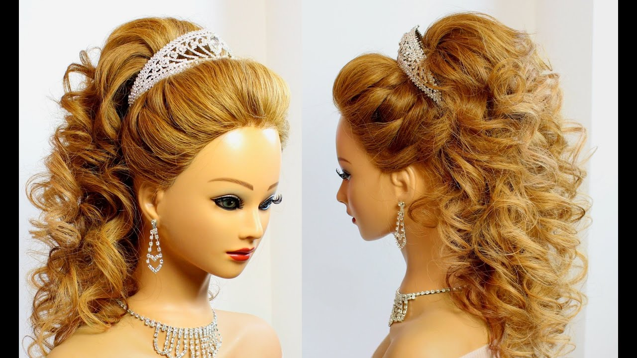 bridal hairstyle for long hair. tutorial - youtube