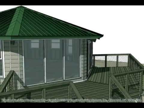 Topsider Homes Prefab Stilt Home Animated House Assembly