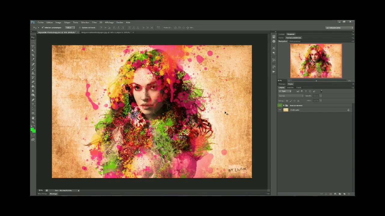 Realiser Une Peinture Aquarelle Avec Photoshop Cs6 Youtube